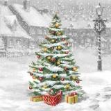 Weihnachtsbaum am Strassenrand - Christmas tree on the roadside - Arbre de Noël sur le bord de la route