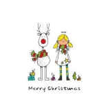 Engel & Rentier wünschen Frohe Weihnachten - Angel & reindeer wish Merry Christmas - Angel & Reindeer souhaitent un joyeux Noël