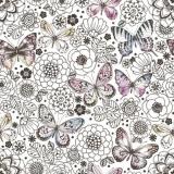 wunderschöne zarte Schmetterlinge mit gemalten Blumen - beautiful delicate butterflies with painted flowers - beaux papillons délicats avec des fleurs peintes