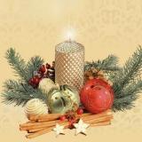 Musterkerze & weihnachtliche Accessoires -  Sample candle and Christmas accessories - Échantillon de bougies et accessoires de Noël