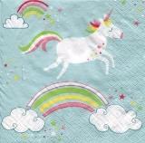 ein Einhorn schwebt über den Regenbogen - a unicorn hovers over the rainbow - une licorne plane sur l arc-en-ciel