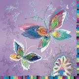 zauberhafte Schmetterlinge in bunten Pastellfarben - enchanting butterflies in colorful pastel colors - papillons enchanteurs dans des couleurs pastel colorés