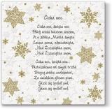 4 verschiedene Weihnachstlieder in Polnisch auf einer Prägeserviette - 4 different Christmas songs in Polish on an embossed napkin - 4 chansons de Noël différentes en polonais sur une serviette en rel