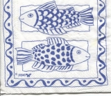 2 grosse blaue Fische - 2 big blue fish - 2 gros poisson bleu