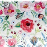 Michel Design - gemalte Wildbeeren und Blüten - painted wild berries and flowers - baies sauvages peintes et fleurs