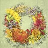 wunderschöner Erntedankfestkranz - beautiful Thanksgiving wreath - belle couronne de Thanksgiving