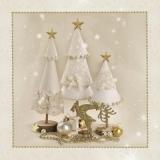 gebastelte weisse Tannenbäume - crafted white fir trees - sapins blancs fabriqués