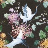 Japanische Kraniche & Blüten - Japanese cranes & flowers - Grues japonaises et fleurs