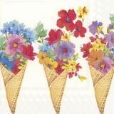 Blumen in einer Eiswaffel - Flowers in an ice cream cone - Fleurs dans un cornet de glace