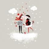 verliebtes Paar beschenkt sich - in love couple presents themselves - en couple amoureux se présente