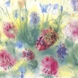 toll gemalte Glockenblumen & Klee - beautifully painted bluebells & clover - jacinthes et trèfle magnifiquement peints