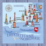 Leuchttürme an der Nordsee - Lighthouses on the North Sea - Phares sur la mer du Nord