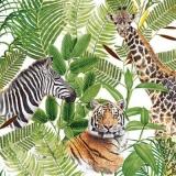 Giraffe, Tiger, Zebra & Palmen - Giraffe, Tiger, Zebra & Palms - Girafe, tigre, zèbre et palmiers