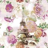 Eiffelturm eingebettet in Rosen - Eiffel tower embedded in roses - Tour Eiffel incrustée de roses