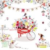 eine Schubkarre voller Geburtstagsgeschenke - a wheelbarrow full of birthday presents - une brouette pleine de cadeaux d anniversaire