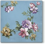 blaue Blumengirlande - blue flower garland - guirlande de fleurs bleues