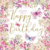 blumige Geburtstagswünsche - floral birthday wishes - voeux d anniversaire floral