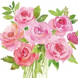 schön gemalter Rosenstrauss - beautifully painted bouquet of roses - bouquet de roses magnifiquement peint