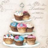 leckere Cupcakes auf einer Etagere - delicious cupcakes on a cake stand - délicieux cupcakes sur un support de gâteau