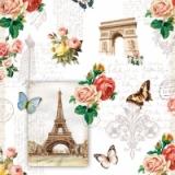 Eifelturm, Triumphbogen, Schmetterlinge & Rosen - Eiffel Tower, triumphal arch, butterflies and roses - Tour Eiffel, arc de triomphe, papillons et roses
