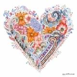 Frühlingsblumenherz - Spring Flowers Heart -  Meintest du: Frühlingsblumen Herz 19/5000 Coeur Fleurs de printemps