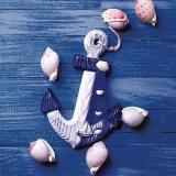 dekorativer Anker mit Muscheln - decorative anchor with shells - ancre décorative avec des coquilles