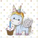kleines Einhorn feiert Geburtstag - little unicorn celebrates its birthday - petite licorne fête son anniversaire