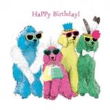 bunte, tierische Geburtstagswünsche - colorful, animal birthday wishes - souhaits d anniversaire coloré, animal