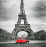roter Käfer, Auto am Eiffelturm - red beetle, car at Eiffel tower - coléoptère rouge, voiture à la tour Eiffel