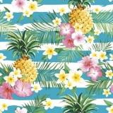 Ananas & tropische Blüten -  Pineapple & tropical flowers - Ananas et fleurs tropicales
