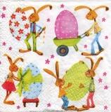 4 Osterhasen & grosse bunte Eier - 4 easter bunnies & big colorful eggs - 4 lapins de Pâques et gros œufs colorés