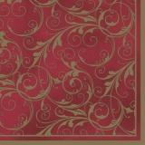 goldenes Muster auf roten Hintergrund - golden pattern on red background - motif doré sur fond rouge