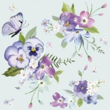schöne Frühlingsblumen auf blauem Hintergrund - beautiful spring flowers on blue background - fleurs de printemps magnifique sur fond bleu