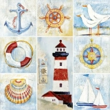 Leuchtturm, Möwen, Anker und anderes - Lighthouse, seagulls, anchor and other - Phare, mouettes, ancre et autres
