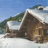 schneebedeckte Holzhäuser - snow-covered wooden houses - maisons en bois couvertes de neige
