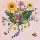 bunter Blumenstrauss mit Sonnemblumen - colorful bouquet with sunflowers - bouquet coloré aux tournesols