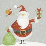 Weihnachtsmann & Rotkehlchen bringen Geschenke - Santa Claus & Robins bring gifts - Père Noël et Robins apportent des cadeaux