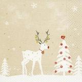 Hirsch, Weihnachtsbaum & Vöglein - Deer, Christmas tree & bird - Cerf, arbre de Noël et oiseau