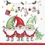 3 Wichtel feiern Weihnachten - 3 gnomes celebrate Christmas - 3 gnomes fêtent Noël
