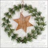 Kranz, Tannenzweife, Stern & Geschriebenes - Wreath, fir-tree, star & written - Couronne, sapin, étoile et écrit