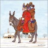 Esel & Weihnachtsmann - Donkey & Santa Claus - Âne et le père noël