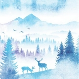Hirsche im Morgengrauen - Deers at dawn - Cerfs à l aube