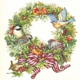 Kranz mit Äpfeln, Vögel, Misteln & mehr - Wreath with apples, birds, mistletoes & more - Couronne avec des pommes, des oiseaux, des gui et plus