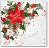 Weihnachtsstern, Christrosen, Ilex - Poinsettia, Christmas roses, Ilex - Poinsettia, roses de Noël, Ilex
