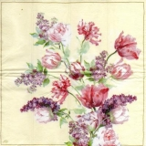 Wunderschöner Strauß mit Rosen & Flieder - Beautiful bouquet with roses & lilac - Belle bouquet de roses et de lilas