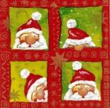 Lustiger Weihnachtsmann - Santa Square