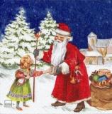 Nostalgischer Weihnachtsmann & Mädchen - Vintage Santa & Girl  - Nostalgic Santa brings joy - Nostalgique Père Noël et fille