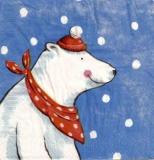 Eisbär Bruno - Mit Schal & Mütze