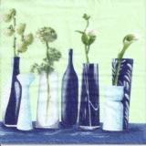 Blumenvasen - White & Blue flower vase - Vases de fleurs
