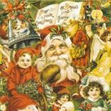nostalgische Weihnachtsmann -  Vinatge Santa Collage - -CollageCollage de Noel
